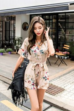 Watercolor jumpsuit korean fashion korean fashion, fashion и Korean Fashion Kpop, Korean Fashion Summer, Korean Fashion Casual, Korean Fashion Trends, Korean Street Fashion, Ulzzang Fashion, Korean Outfits, Asian Fashion, Foto Casual