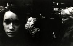 William Klein : Big Face, front of Macy's, New York, 1955.