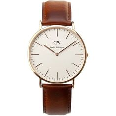 The Classic St. Andrews by Daniel Wellington features a simplistic yet stylish face set on a genuine brown leather  strap.  The timepiece is ultra thin so sits close to the wrist and accentuates the classic style.     The story of Daniel Wellington began with a meeting on the other side of the world when a friendship emerged between one of the company founders and the man behind the brand name.£140.00