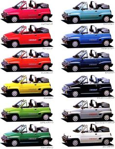 Honda City Cabriolet colors