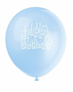 Baby Blue Happy Birthday Printed Balloon - Online Balloon Shopping in India