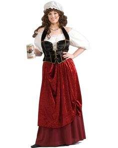 Tavern Wench Womens Plus Size Costume
