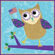 'Patriotic Owl' by Dennis Kendrick