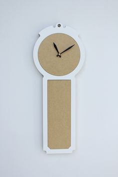 modern wall clock the colonial in fresh white by uncommon on Etsy