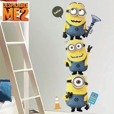 Despicable Me 2 Minions Wall Decal Set Home Movie Theater Game Room Decor @ niftywarehouse.com #NiftyWarehouse #DespicableMe #Movie #Minions #Movies #Minion #Animated #Kids