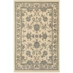 Grace Cream (Ivory) 5 ft. 2 in. x 7 ft. 2 in. Plush Indoor Area Rug