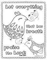 subscriber freebie scripture coloring page