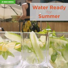 Summertime means we're reaching for something cold and refreshing more often to keep us hydrated. Sometimes, that means grabbing a sports drink, soda or juice loaded with sugar—but you don't have to Dental, Water, Summer, Water Water, Aqua, Dentist Clinic, Tooth, Dental Health, Summer Time