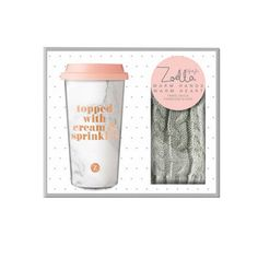 Zoella Lifestyle Warm Hands Warm Heart Travel Mug and Gloves Set