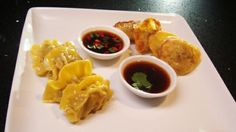 Sofia's Duck Dumplings with Chilli and Ginger Sauces