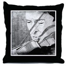 Holmes and violin1 Throw Pillow for