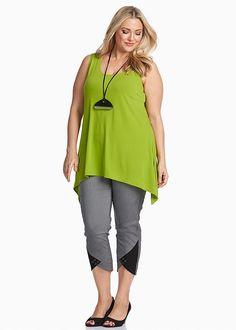 Plus Size Ladies' Tops in Australia - White, Black, Mesh & More - LUNA CURVE TANK
