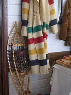 (Make a Hudson Bay Blanket coat.) // canada \\ Dare I cut them up? Navajo, Hudson Bay Blanket, Canadian Things, Blanket Coat, Fur Trade, Winter Cabin, Canada Day, Le Far West, Mantel