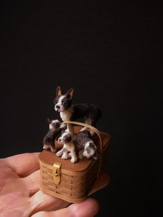 Boston Terrier Love these Bostons! Needle Felted Animals, Felt Animals, Needle Felting, Boston Terrier Love, Boston Terriers, Minis, Miniature Dogs, Mini Dogs, Mini Things
