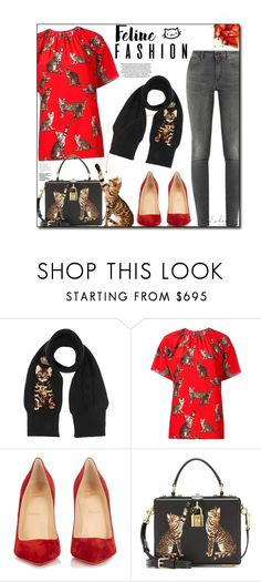 """""""Cat Daddy"""" by sherieme ❤ liked on Polyvore featuring Dolce&Gabbana, Christian Louboutin and Yves Saint Laurent"""