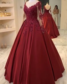 Gown Party Wear, Party Wear Indian Dresses, Pretty Prom Dresses, Indian Gowns Dresses, Red Wedding Dresses, Dress Prom, Red Evening Dresses, Red Gown Prom, Burgundy Quinceanera Dresses