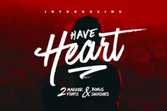 Have Heart is a set of 2 hand-made marker pen #fonts, designed to combine perfectly and allow you to create stunning hand-lettering quickly and easily. Also included is a set of 12 bonus #swashes, ideal for giving your text that final touch of finesse!