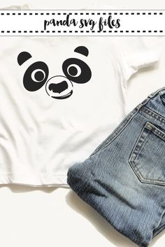 Make adorable panda shirts with the SVG files from Everyday Party Magazine #SVGSaturday #PandaParty #Pandas