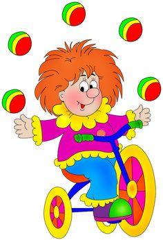 Mis Laminas para Decoupage (pág. 389) | Aprender manualidades es facilisimo.com Circus Clown, Circus Theme, Clown Crafts, Clown Party, Birthday Clipart, Colored Pencil Techniques, Send In The Clowns, Tole Painting, Emoticon