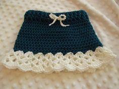 Crochet Skirt Ravelry: Cutie Pie Ruffle Skirt pattern by Krayzee Stitchez aka Marcie Horton - Crochet Circle Vest, Crochet Baby Dress Pattern, Crochet Circles, Baby Girl Crochet, Crochet For Kids, Crochet Patterns, Knitted Baby Clothes, Crochet Clothes, Crochet Baby Costumes