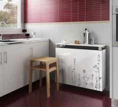 Dise os de muebles de cocinas de melamina modernos 5 for Muebles para cubrir radiadores
