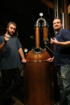 The Smotherman Brothers. Master Distiller Josh and his younger brother, Ryan.
