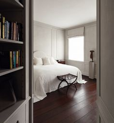 London apartment bedroom by Axel Vervoordt -- Living with Light via Atticmag