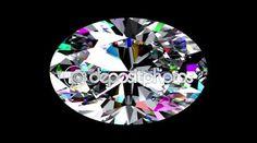 Duhový diamant ovál. Opakuje. Alfa matný — Stock video #123797924