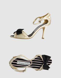Christian Lacroix high heeled sandals beige....I wish this designer would come back!