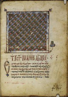Medieval Manuscript, Illuminated Manuscript, Greek Bible, Gospel Reading, Four Gospels, Life Of Christ, Gold Background, 12th Century, British Library