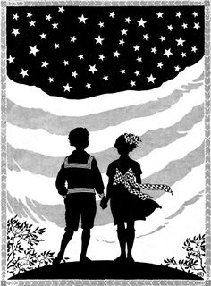 Patriotic silhouette from a 1921 children's magazine