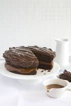 Salted Sweet Chocolate-Caramel Cake