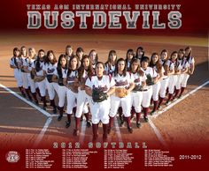 Softball Photo Ideas   2012 TAMIU Softball Poster » JS Photo Studio