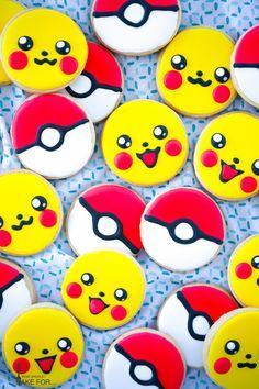 Pokémon Go Cookies Recipe for your Pokemon Go fan or a Pokemon Go Birthday Party!