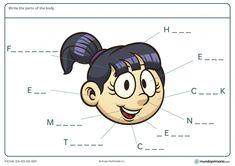 Ficha de la cara para primaria