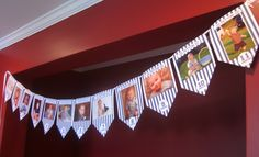 Monthly Photo Banner, great idea for 1st Birthday Party