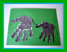 Handprint Elephant Earth Day Craft and Jungle Song