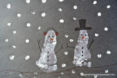 Footprint Snowman Craft- pinned by @PediaStaff – Please Visit ht.ly/63sNtfor all our pediatric therapy pins