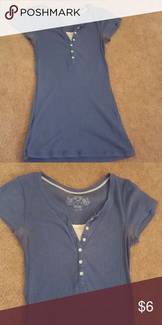 Short sleeve top Cute top with buttons down the front. Comfortable to wear! Slightly worn but in good shape SO Tops