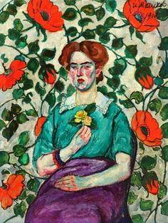 "Ilya Mashkov (Russian, 1881–1944) ""Portrait of a Woman. Minsk"", 1908"