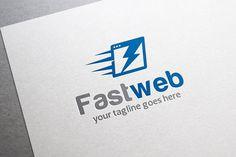 Fast Web Logo by gunaonedesign on @creativemarket