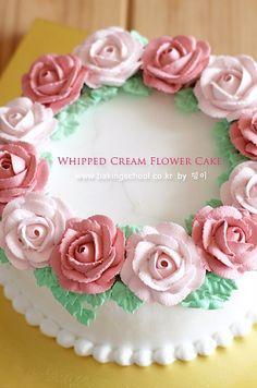 Whipping cream decoration