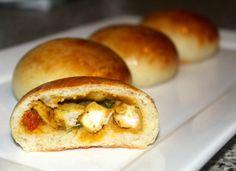 Zachte broodjes met pittige kip