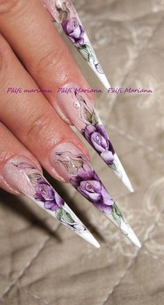 aquarelle roses by muci5 from Nail Art Gallery