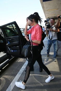 July 25, 2016 -  Leaving LAX airport in Los... Kendall Nicole Jenner Fashion Style