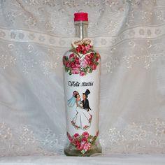 Darčeková fľaša k sobášu Ružičková láska