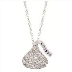 Corbo Jewelers - Hershey Kiss Medium CZ Flat Pendant $125
