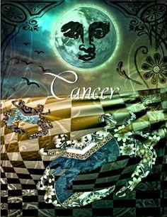 AstroSpirit / Cancer ♋ / Water / The Crab / Moonchild / par Hannah Blue