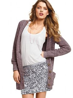 Slouchy Cable Cardi Sweater -- Victoria's Secret -- Love this cardigan!