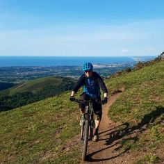 Mountain Biking at Col d'Ibardin in the French Basque Country